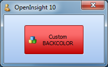 Button with red BACKCOLOR