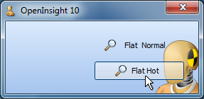 Flat button with translucency