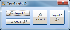 Buttons showing  glyph layouts