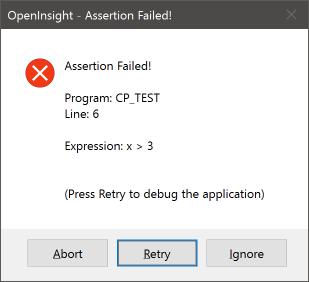 Assertion MessageBox