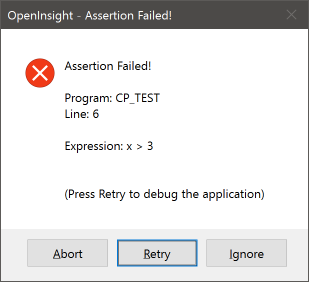 Assertion MessageBox
